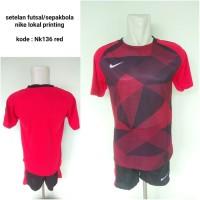 Kostum Kaos setelan futsal nike NK136 red