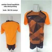 Kostum Kaos setelan futsal nike NK136 orange