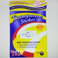 Tom and Jerry Transparent Label paper 121 (Per pack - small pack)