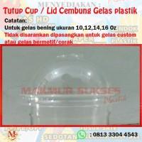Tutup Cup / Lid Cembung Gelas plastik (50 pcs)