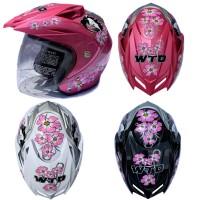 [Helm Dewasa] WTO Helmet Vision - Flower Ladies
