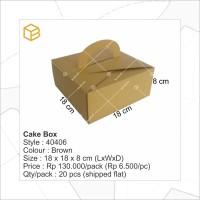 Dus Kue, Box Kue, Cake Box, Gift Box, Kado, Souvenir - # 40406-B