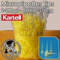 1000pcs Tip Mikropipet / mikro pipet or Micropipette Tips 20-200 uL