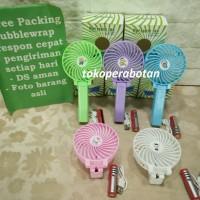 Kipas Angin Lipat Portable 2in1 (102) / Mini Hand Fan / Kipas Charge