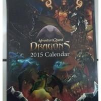 HeroMart 2015Dragons CalendarBook/ AQW AQWorlds Adventure Quest Worlds
