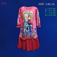 (G-03) Baju Muslim Anak Gamis Anak Frozen Beautiful Dream Usia 5-9 Thn