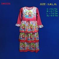 (DMS036) Baju Muslim Anak Gamis Anak Frozen Remple Usia 5-9 Tahun