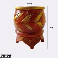 Pot Bunga Klasik Dari Bambu - Vas Bunga Motif Ukir - VB08