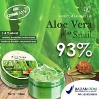 SYB Soothing Gel Aloevera Moisture Plus Snail 93% BPOM