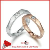 cincin kawin nikah tunangan couple PLATINUM sbs207