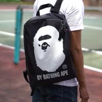 ORIGINAL tas backpack ransel bape ape black japan appendix magazine