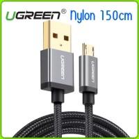 UGREEN NYLON KABEL CHARGER 150 CM SYNC DATA MICRO USB PREMIUM USB 2.0