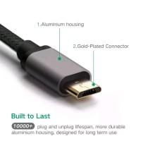 UGREEN NYLON KABEL CHARGER 200 CM SYNC DATA MICRO USB PREMIUM USB 2.0
