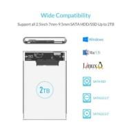 Case Hardisk External ORICO 2139U3 2.5 inch Transparan USB 3.0 Hard