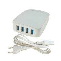 Delcell Adaptor 4 Port USB Charger Real 6 Ampere