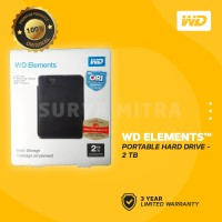 WD Element 2TB USB 3.0 - HD / HDD / Harddisk External