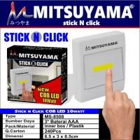 STICK N CLICK COB LED 10W MITSUYAMA MS-8508 - Lampu Tempel Emergency