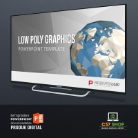 Template PowerPoint LOW POLY GRAPHICS | PresentationLoad