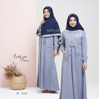 GAMIS ARASYA DRESS STEEL SIZE M GAMIS ONLY polos by ATHIYYAH