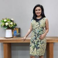 Dress Batik Katun Tulis Cirebon Brand Batik Muda Uk L - BAAD2215 3