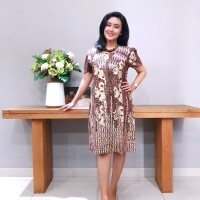 Dress Batik Katun Cirebon Brand Batik Muda – BAAD72123 (Uk L )