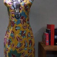 Dress Batik Katun Tulis Cirebon Brand Batik Muda Uk XL - BAAD22154