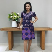 Dress Batik Katun Cirebon Brand Batik Muda – BAAD72122 Uk M