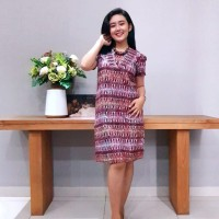 Dress Batik Katun Cirebon Brand Batik Muda Uk S – BAAD72121