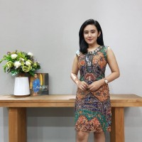 Dress Batik Katun Tulis Pekalongan Brand Batik Muda Uk S - BAAD21151