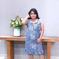 Dress Batik Katun Tulis Lasem Brand Batik Muda - BAAD25155 (Uk XXL)