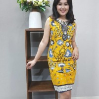 Dress Batik Katun Tulis Cirebon Brand Batik Muda Uk S - BAAD2215