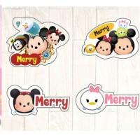 Stiker nama gambar kartun