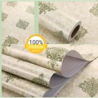 Harga super murah wallpaper sticker dinding krem serabut batik | antitipu.com