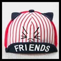 Harga topi bayi lucu karakter tulisan friends untuk cowok cewek   antitipu.com