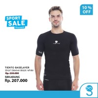 Rash Guard Compression Daleman Tiento Short Sleeve Black white Ori
