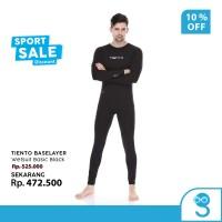 Tiento Wetsuit Basic Black Swimwear Baju Celana Pakaian Renang Diving