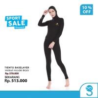 Tiento Wetsuit Hoodie Black Swimwear Baju Celana Pakaian Renang Diving