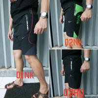 celana pendek olahraga gym sport training regular fit run dri fit