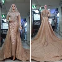 gaun kebaya pengantin model slim set slayer cocok untuk akad/resepsi