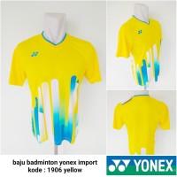 Kaos Badminton bulutangkis Yonex 1906 yellow