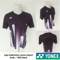 Kaos Badminton bulutangkis Yonex 1906 black