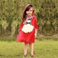 BAJUKIDDIE RED RIDING HOOD DRESS .KOSTUM ANAK PEREMPUAN PUTRI PRINCESS