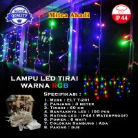 Lampu Natal Tirai LED RGB (Red-Green-Blue)