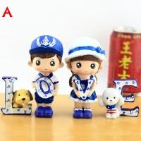 LOVE Couple Sailor & Puppy / Pajangan Boneka