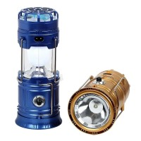 Lampu Emergency LED Tarik Senter Camping Surya Solar Power Bank Murah - Hitam