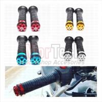 Handfat Handgrip Grip Gas Karet Stang Motor Jalu Ulir Universal