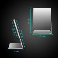 Acrylic akrilik tempat brosur A6 acrylic no meja brosur holder 15x10