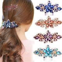 Jepit Rambut Model Bunga Kristal untuk Wanita