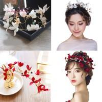 Bando Mahkota Bunga untuk Aksesoris Rambut Pengantin Wanita