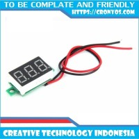 "Digital Voltmeter mini 0.36"" DC 4.5V - 30V Merah"